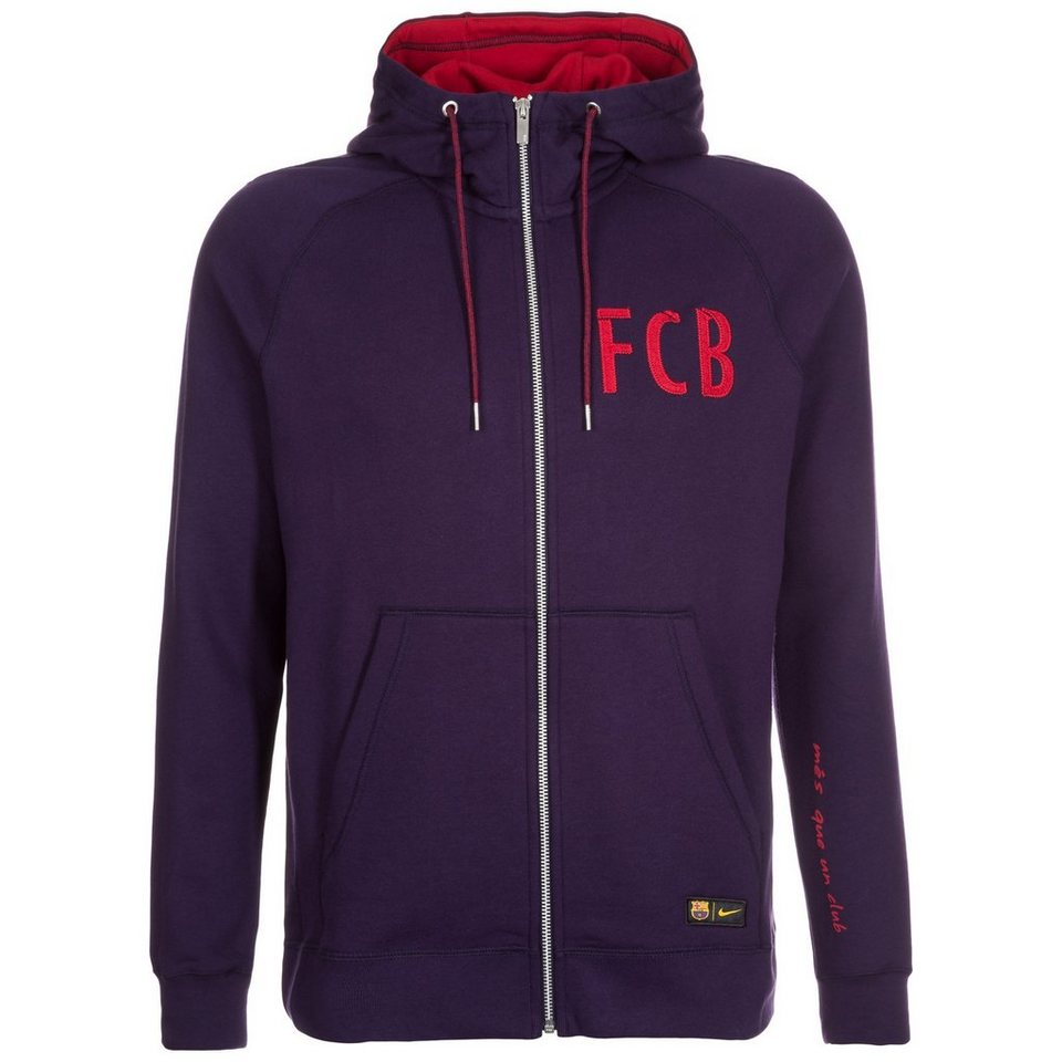 NIKE FC Barcelona Kapuzenjacke Herren in lila / rot