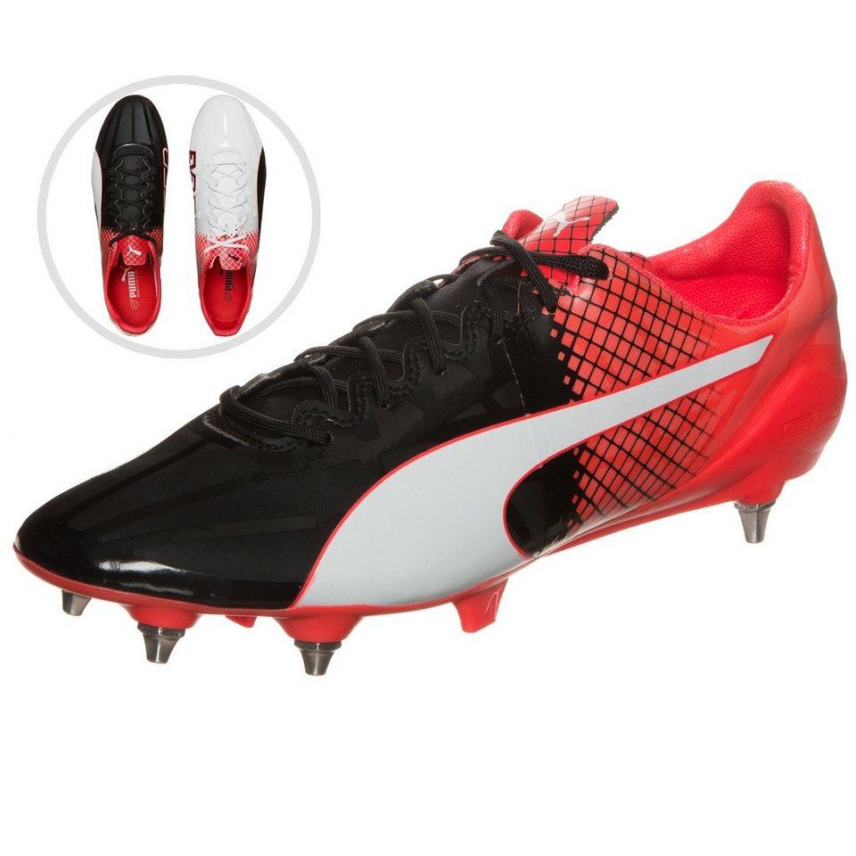PUMA evoSPEED 1.5 Tricks Mixed SG Fußballschuh Herren in schwarz / weiß / rot
