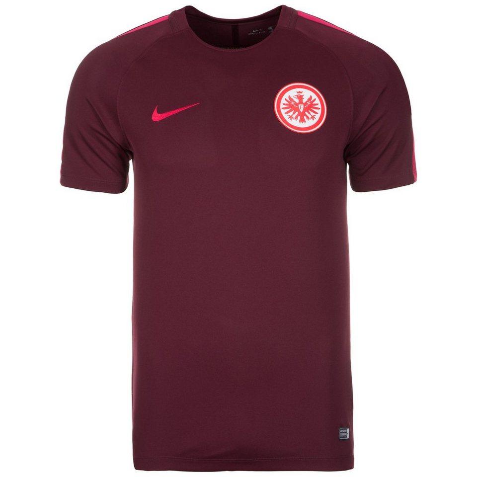 NIKE Eintracht Frankfurt Squad Trainingsshirt Herren in bordeaux / pink