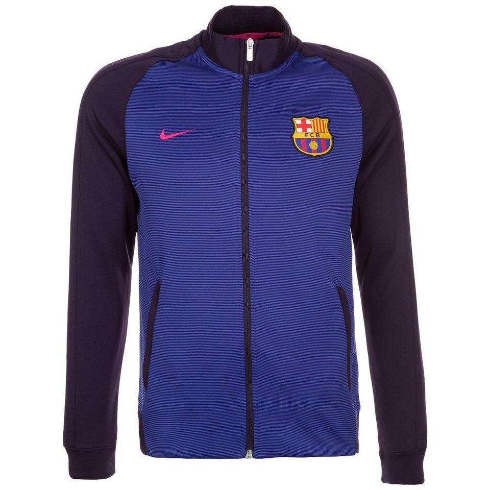 NIKE FC Barcelona Authentic N98 Track Jacke Herren in violett / blau
