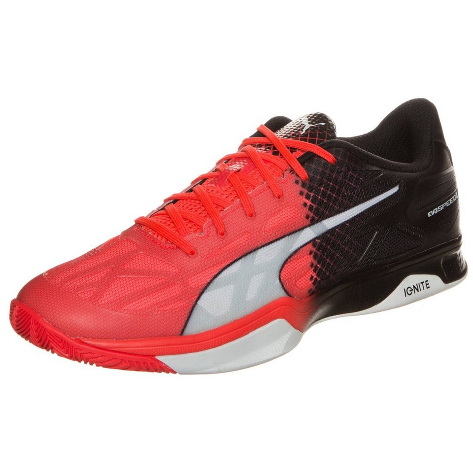 PUMA evoSPEED 1.5 Indoor Handballschuh Herren in rot / schwarz / weiß