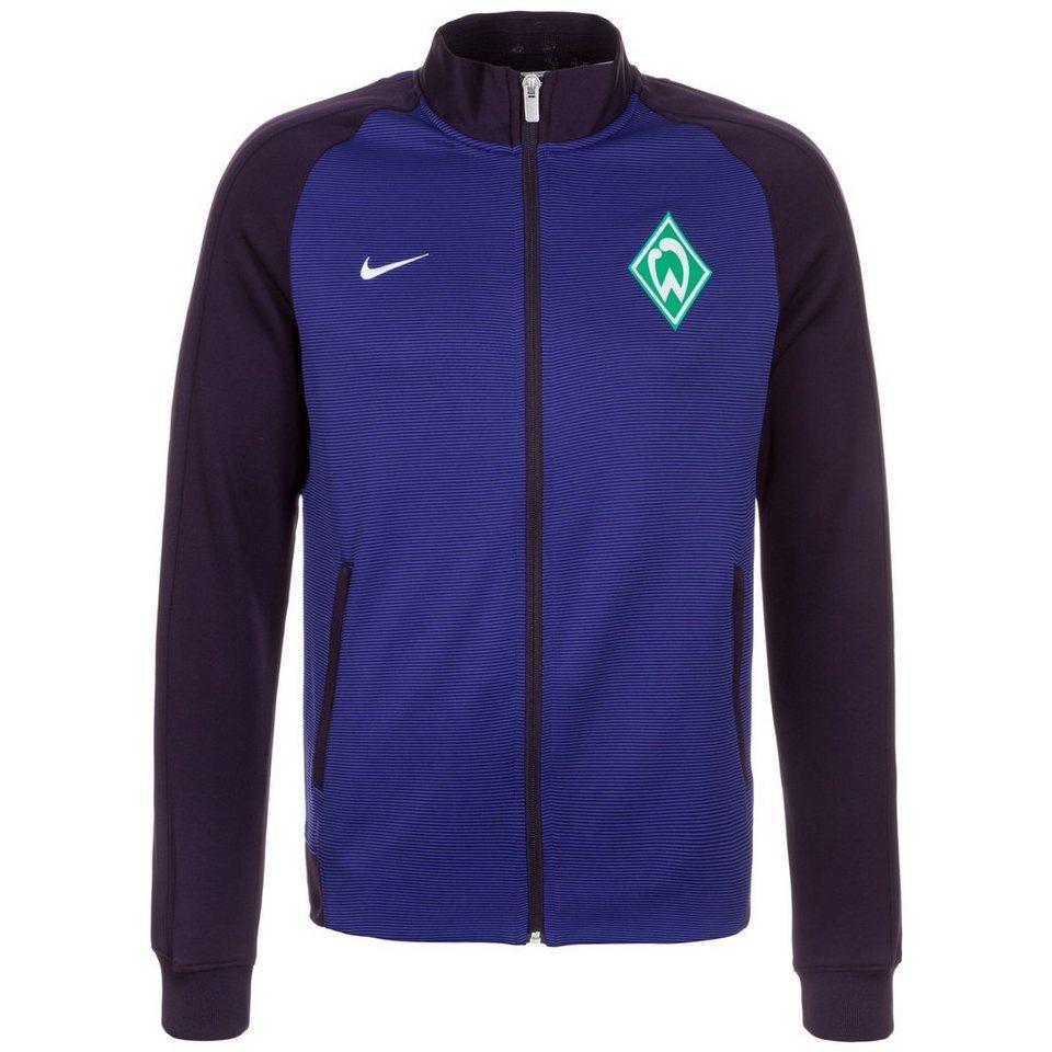NIKE SV Werder Bremen Authentic N98 Track Jacke Herren in lila / blau