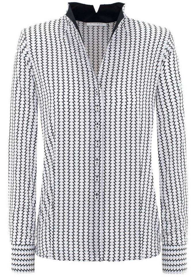 ETERNA 1/1-Arm Bluse »COMFORT FIT« in schwarz/weiß