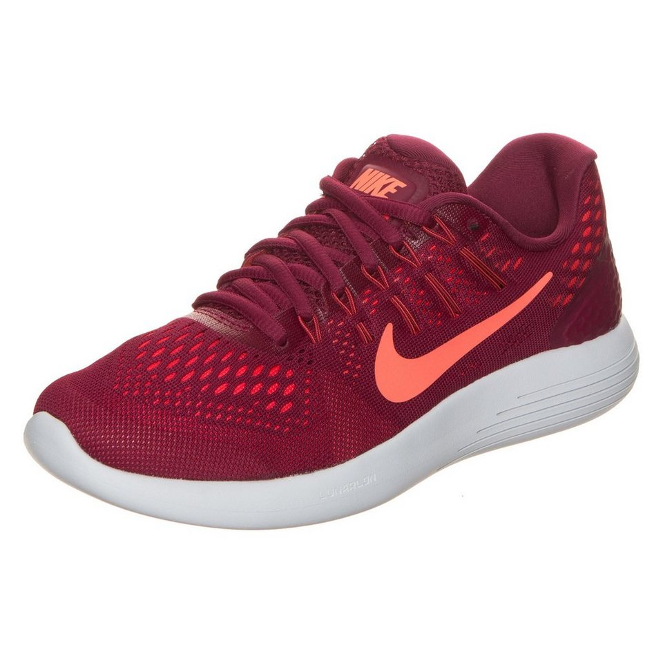 NIKE Lunarglide 8 Laufschuh Damen in bordeaux / orange