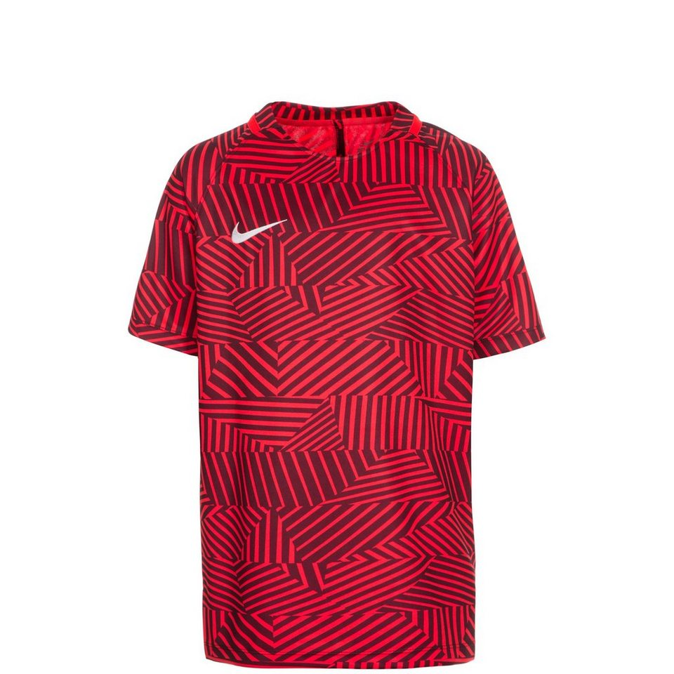 NIKE Dry Squad GX Trainingsshirt Kinder in neonrot / bordeaux