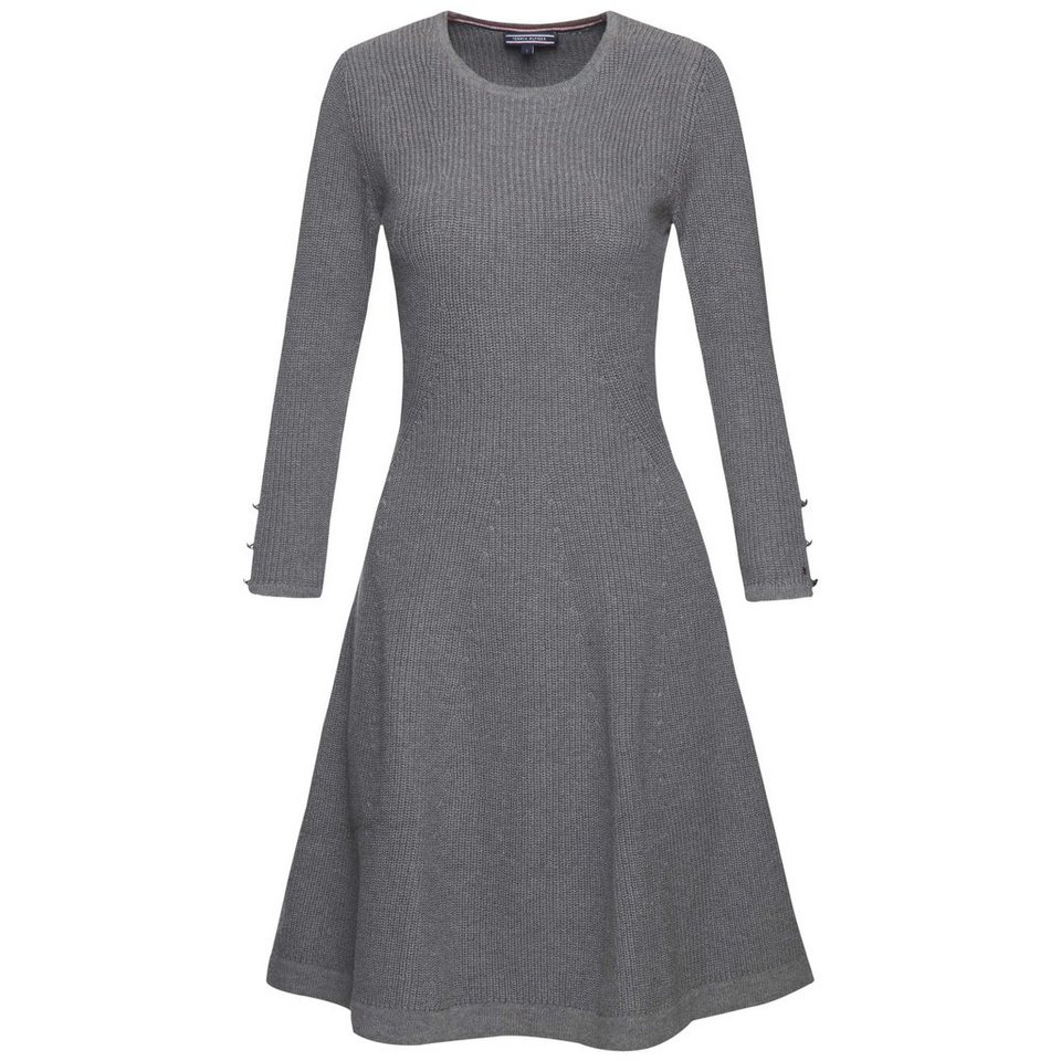 Tommy Hilfiger Kleid »BELINA DRESS« in MEDIUM GREY HTR