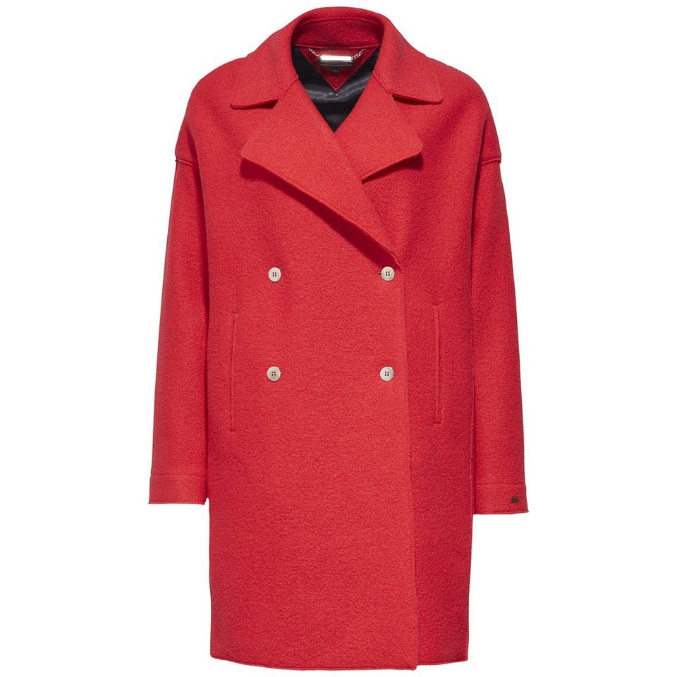 Tommy Hilfiger Mantel »RIDER BOILED WOOL COAT« in MARS RED