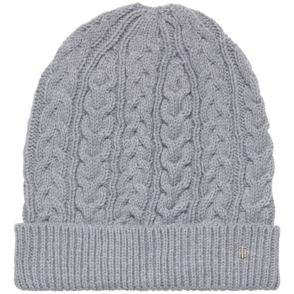 Tommy Hilfiger Mütze »LUCA CABLE SLOUCHY BEANIE« in MEDIUM GREY HTR