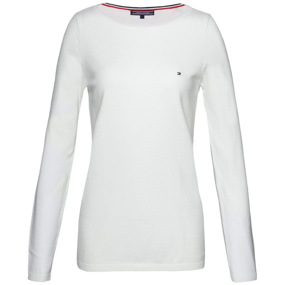 Tommy Hilfiger Pullover »IVY BOAT-NK SWTR« in SNOW WHITE