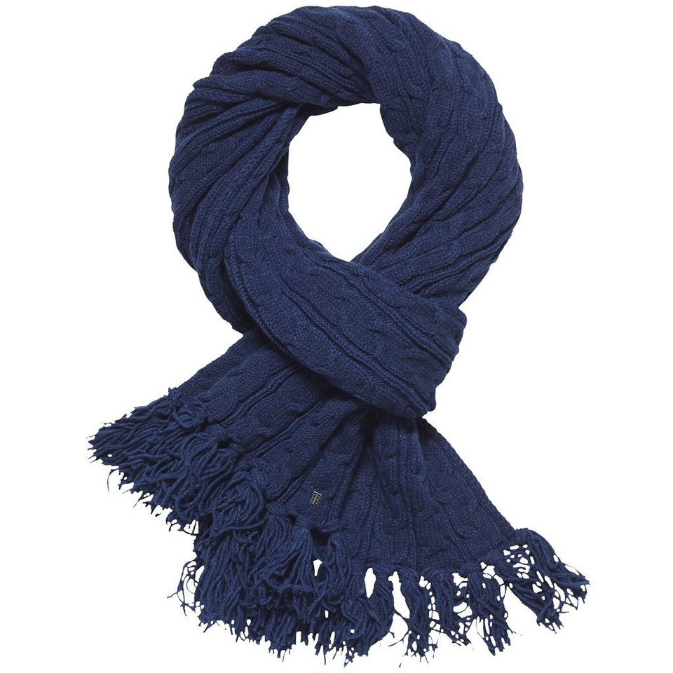 Tommy Hilfiger Schal »LUCA CABLE SCARF« in MEDIEVAL BLUE