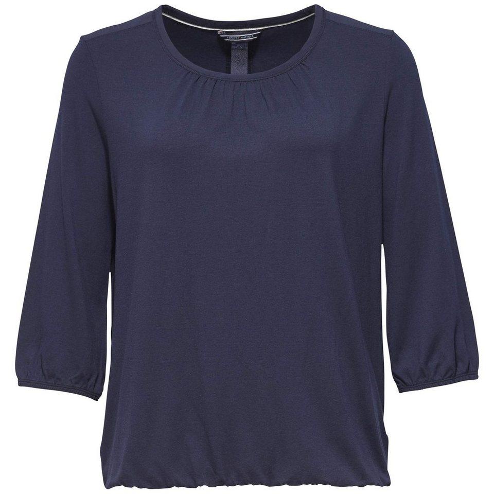 Tommy Hilfiger T-Shirt (mit Arm) »OPHELIA ROUND-NK TOP 3/4 SLV« in NAVY BLAZER HTR