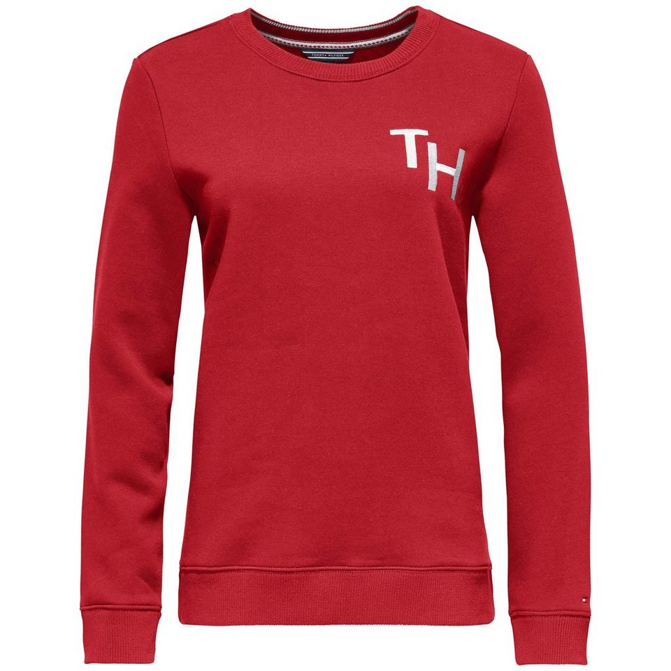 Tommy Hilfiger Pullover »OLYMPIA C-NK SWEATSHIRT LS« in MARS RED