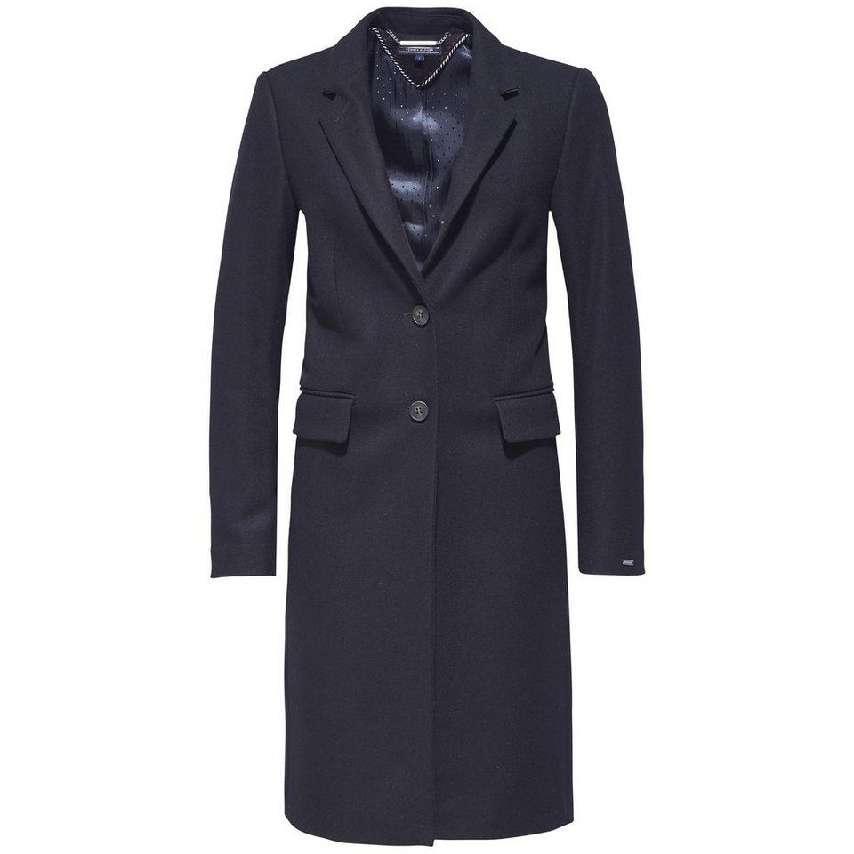 Tommy Hilfiger Mantel »NEW THEA WOOL CLASSIC COAT« in MASTERS BLACK