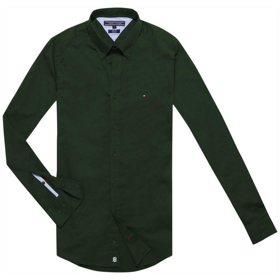Tommy Hilfiger Hemd »STRETCH POPLIN SF2« in ROSIN-PT