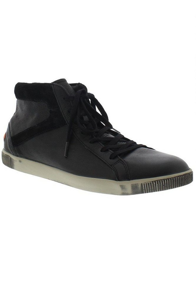 softinos Sneaker high »Taggart smooth leather« in schwarz