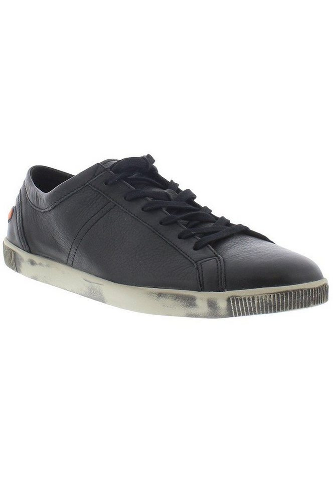 softinos sportlicher Schnürschuh »Tom smooth leather HW16« in schwarz