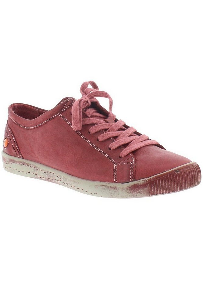 softinos Sneaker low »Isla washed leather HW16« in rot