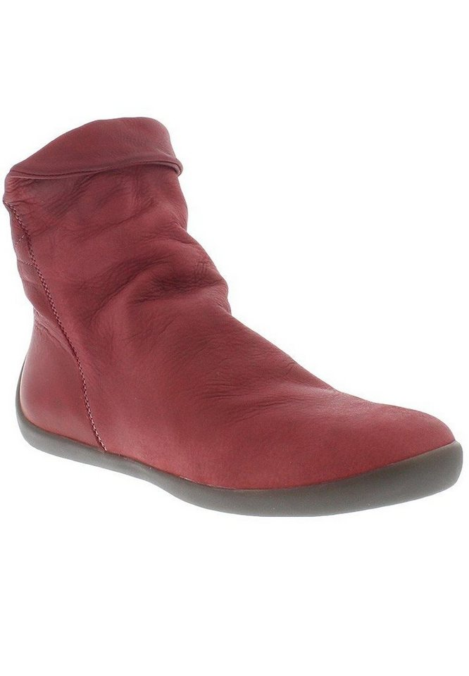 softinos klassische Stiefelette »NAT332SOF washed leather« in rot