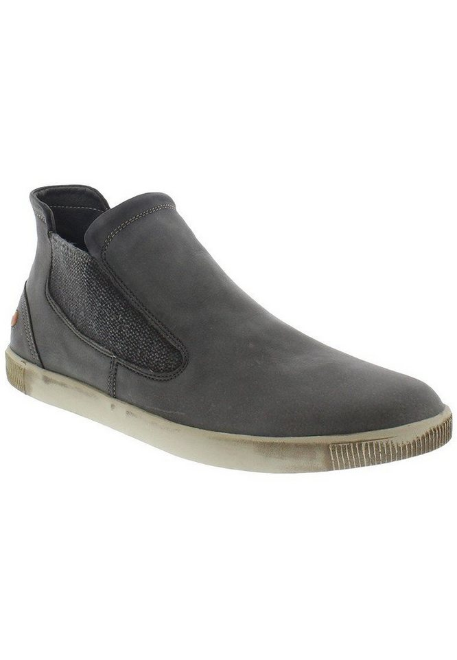 softinos sportlicher,Schnürschuh »TOBY339SOF washed leather« in grün