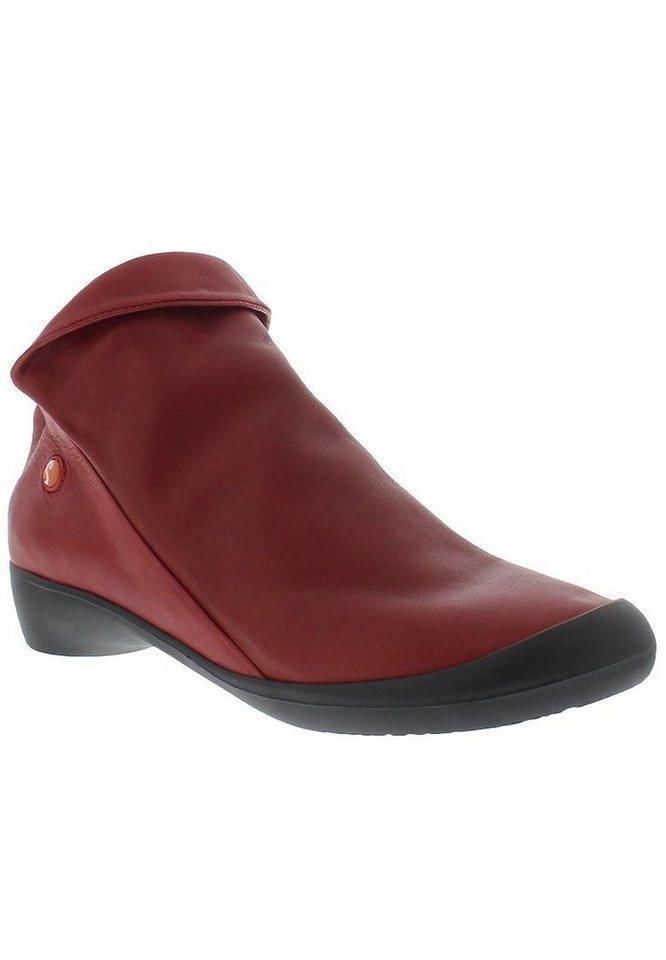 softinos Modischer Halbschuh »FARAH smooth leather HW16« in rot