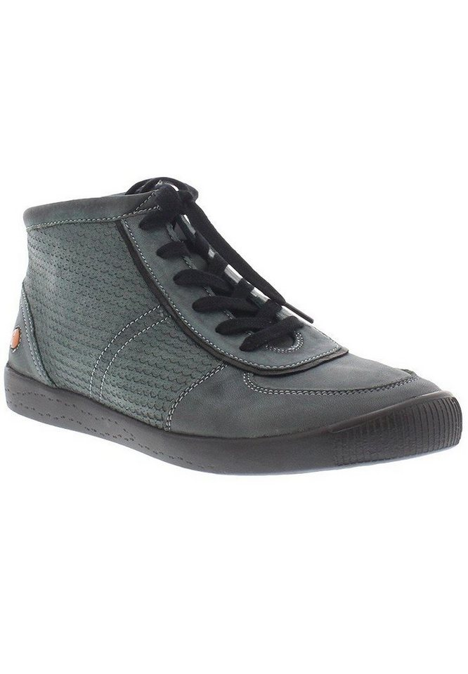 softinos Sneaker high »INU343SOF washed leather« in petrol/türkis