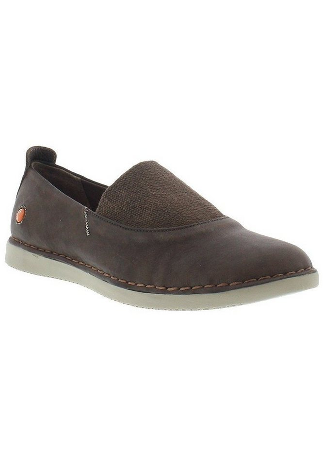 softinos Slipper »TOS347SOF washed leather« in dunkelbraun