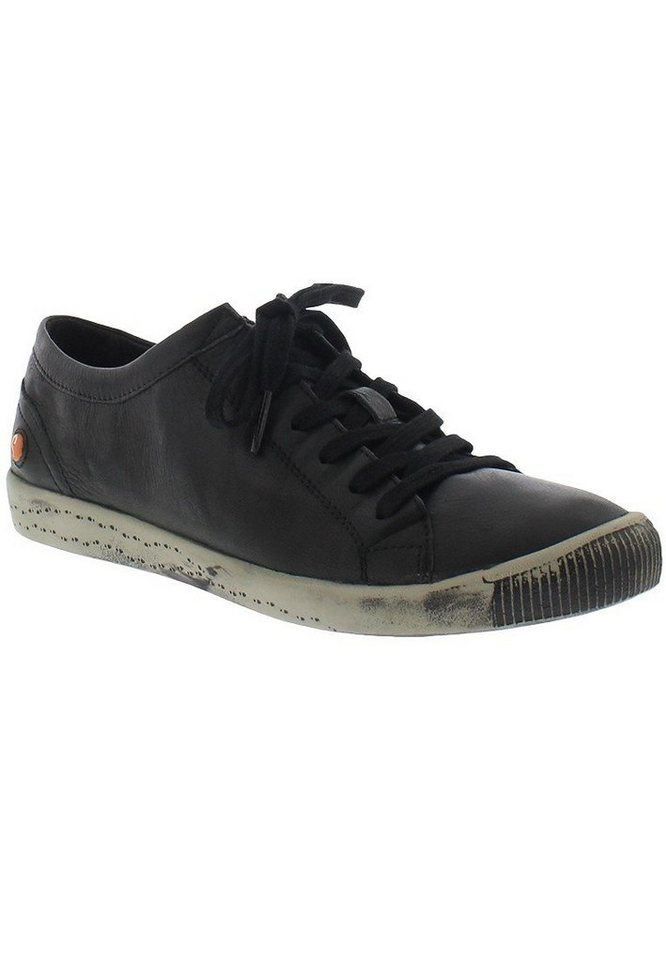 softinos Sneaker low »Isla smooth leather HW16« in schwarz