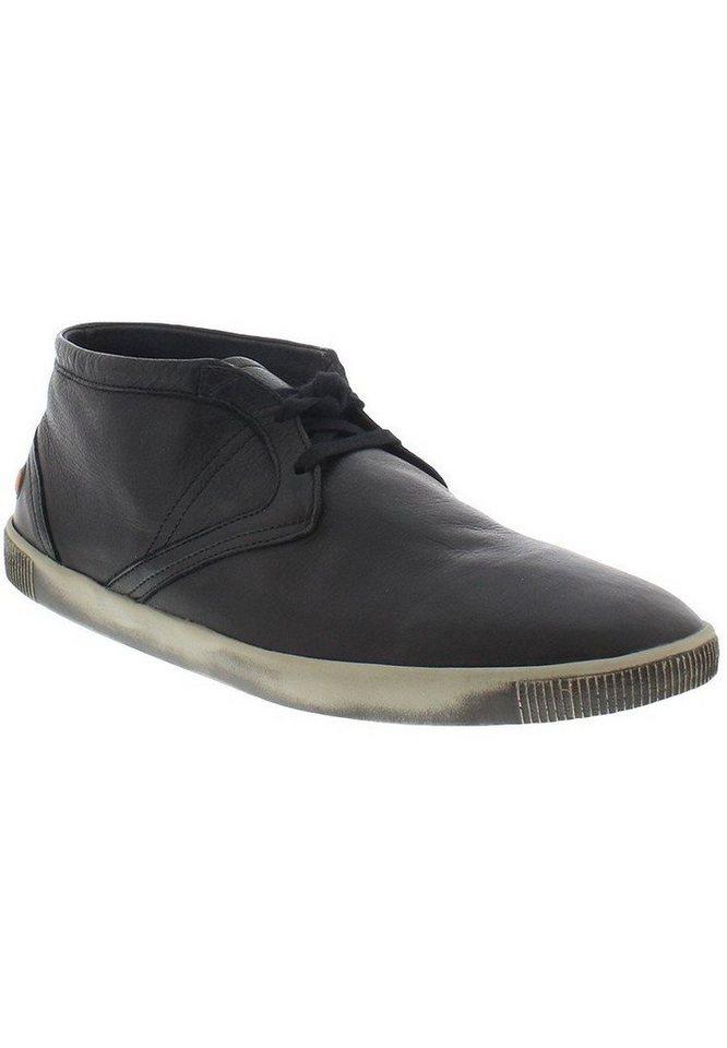 softinos sportlicher Schnürschuh »Tim smooth leather HW16« in schwarz