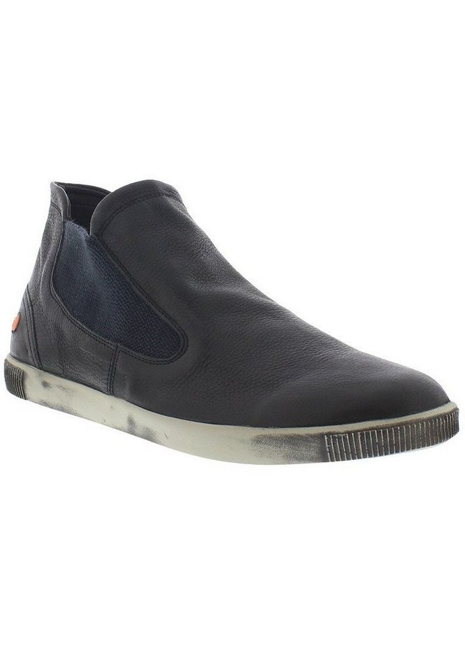 softinos sportlicher Schnürschuh »TOBY339SOF smooth leather« in schwarz