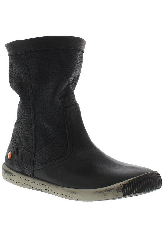 softinos Stiefelette »IGGY348SOF smooth leather« in schwarz