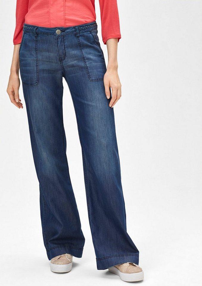 s oliver red label smart wide leichte jeans mit schlag online kaufen otto. Black Bedroom Furniture Sets. Home Design Ideas