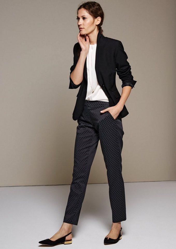 COMMA Klassischer Blazer mit raffiniert gestalteten Details in black