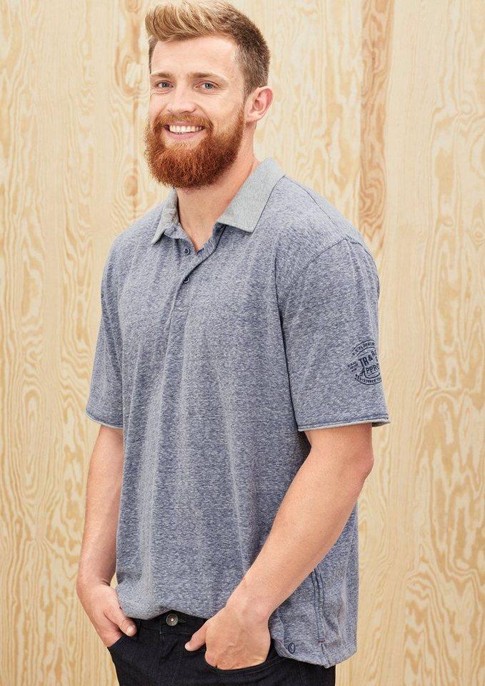 s.Oliver Meliertes Poloshirt aus Jersey in tattoo blue melange