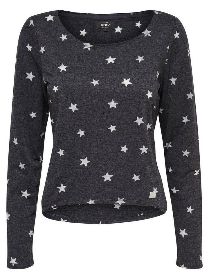 Only Bedrucktes Sweatshirt in Black