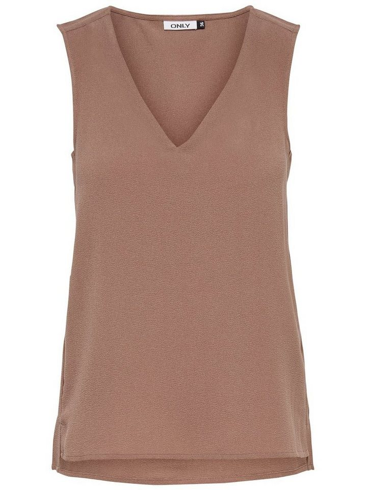 Only Solid Sleeveless Top in Cognac