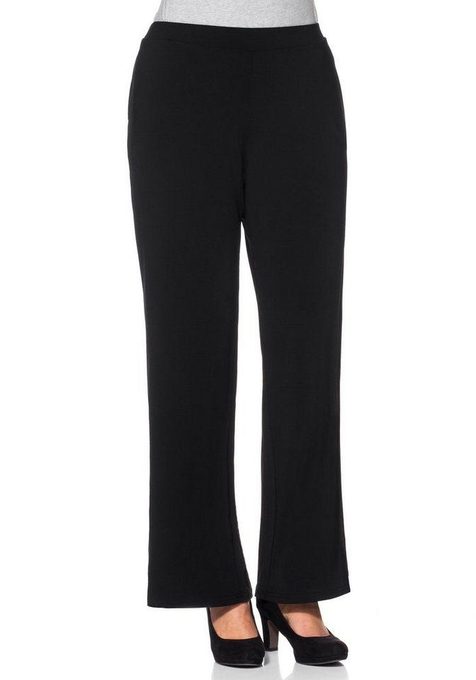 sheego Style Weite Stretch-Schlupfhose in schwarz