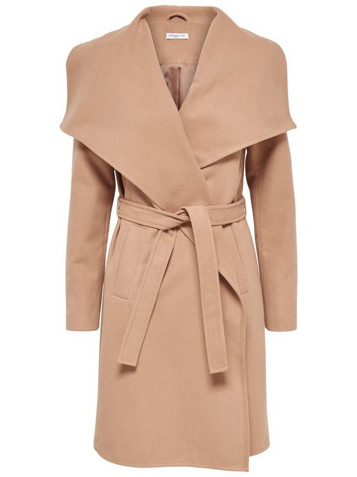 Only Lang drapierter Trenchcoat in Camel