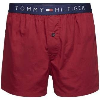 Tommy Hilfiger Tagwäsche »Cotton woven boxer icon« in RHUBARB-PT