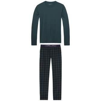 Tommy Hilfiger Pyjama »Icon blackwatch set ls« in PONDEROSA PINE