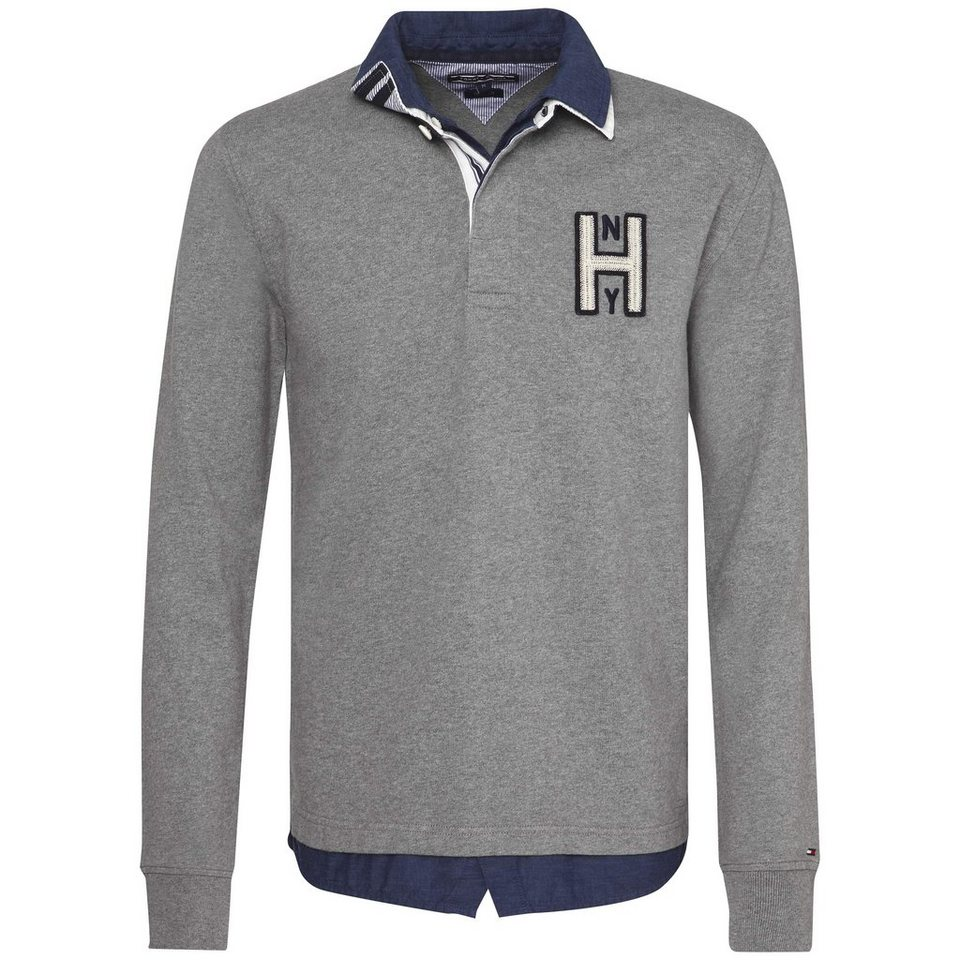 Tommy Hilfiger Sweatshirt »TERENCE RUGBY L/S VF« in SILVER FOG HTR