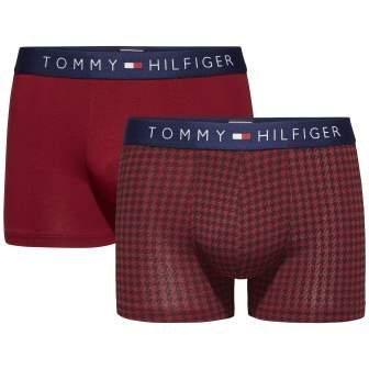 Tommy Hilfiger Tagwäsche »Icon trunk 2 pack houndstooth« in RHUBARB/RHUBARB
