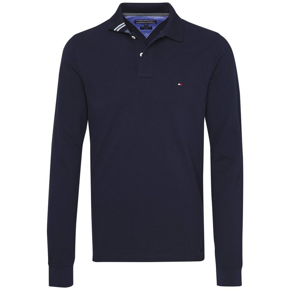 Tommy Hilfiger Poloshirt »SLIM FIT POLO L/S SF« in NAVY BLAZER