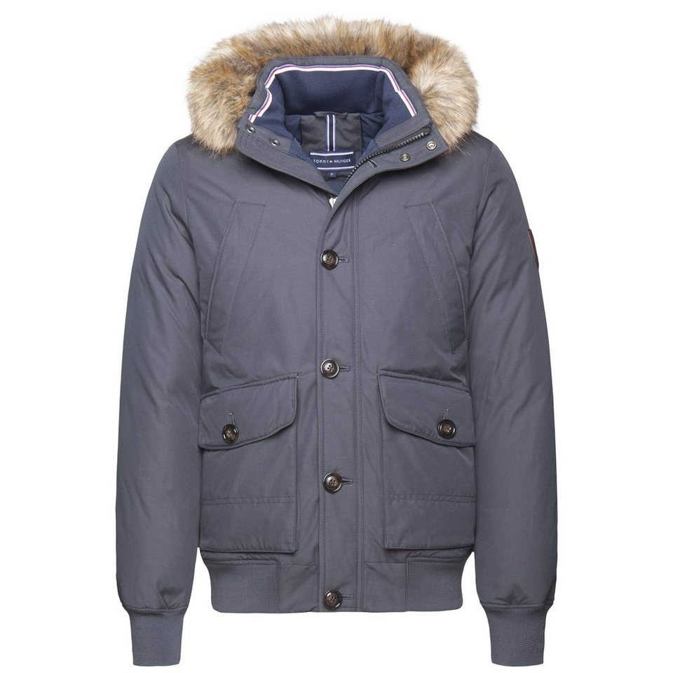 Tommy Hilfiger Jacke »HAMPTON DOWN BOMBER« in DARK SHADOW-PT