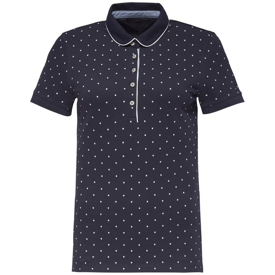 Tommy Hilfiger Poloshirt »AUGUSTA PRT POLO SS« in NIGHT SKY / WHITE DOT