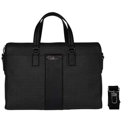 Tommy Hilfiger Handtasche »LOGO STORY COMPUTER BAG« in Black/Asphalt Grey