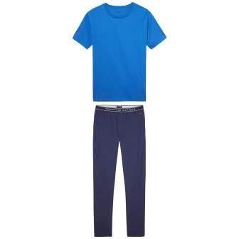 Tommy Hilfiger Pyjama »Stripe set ss« in BLUE / PEACOAT