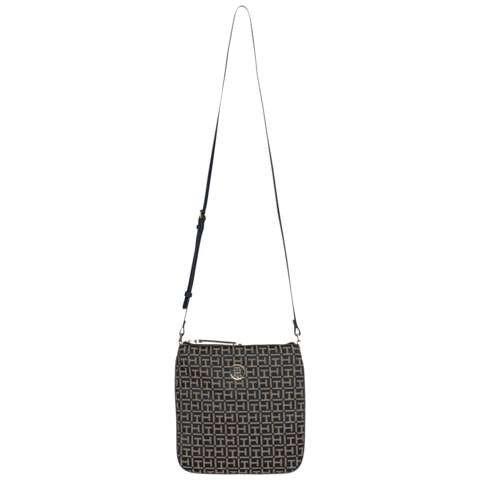 Tommy Hilfiger Handtasche »TH ESSENTIAL FLAT CROSSOVER JAC« in Midnight / Oatmeal
