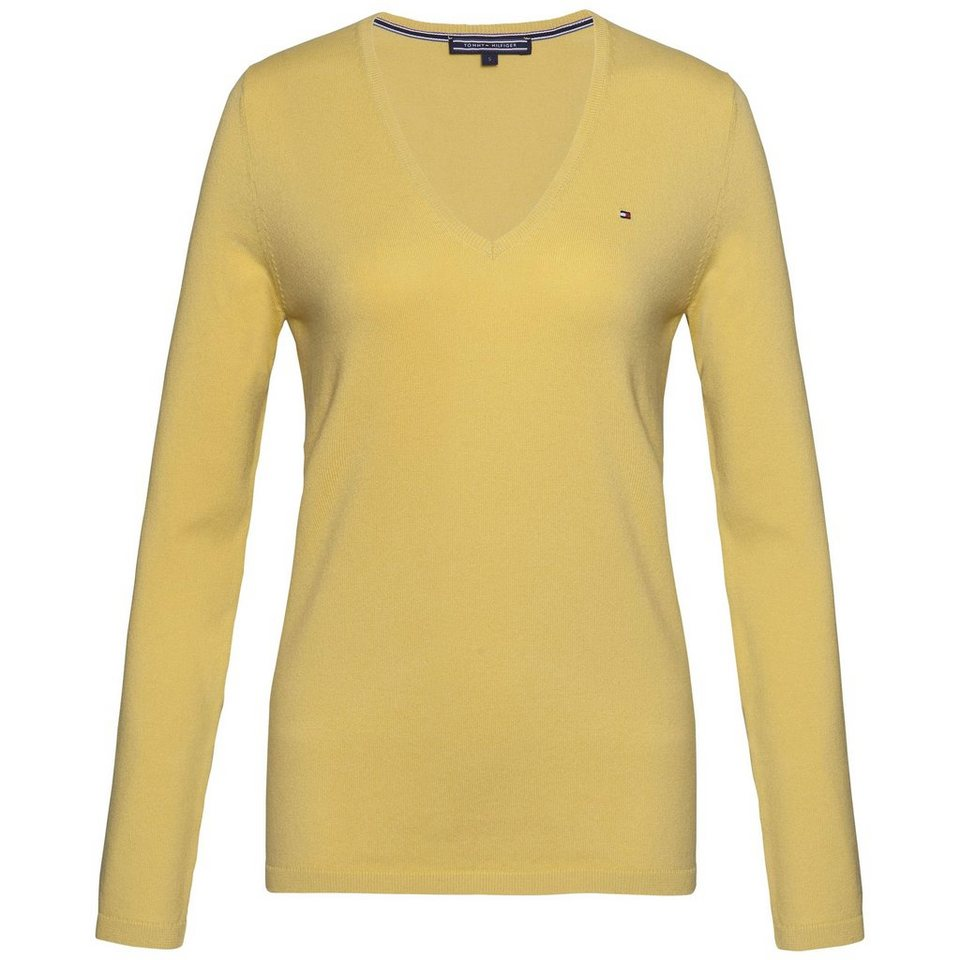 Tommy Hilfiger Pullover »NEW IVY V-NK SWTR« in YELLOW FINCH