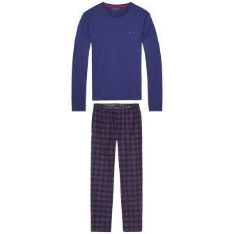 Tommy Hilfiger Pyjama »Icon flannel blue check set ls« in BLUEPRINT
