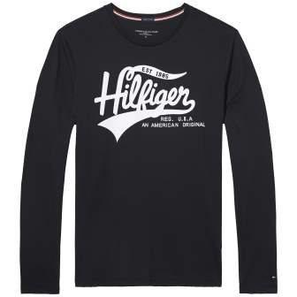 Tommy Hilfiger T-Shirt »Organic cotton cn tee ls print« in BLACK